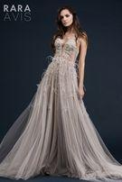 Свадебное выпускное платье от Rara Avis модель Adely ЦВЕТ ПУДРА