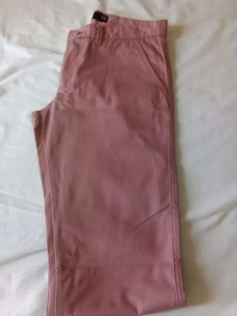 Men's pink chino trousers 0