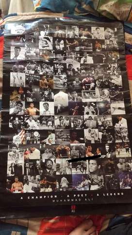 Mohammed ali boxing posters 1x empire and 1x vintage legit poster