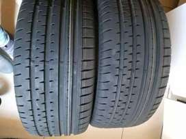 2×255/45/18 Continental tyres for sale