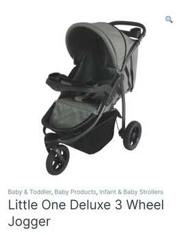 Little One Deluxe 3-wheel Jogger *good condition*