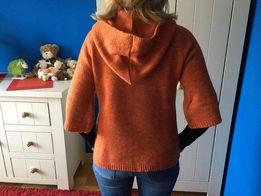 Happy Mum sweter ciążowy z kapturem, rozmiar M 38 rękaw 3/4