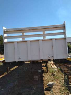 11M single axle dropside trailer