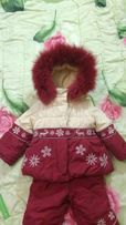 Кико Kiko зимний костюм для девочки 80 см тинсулейт.