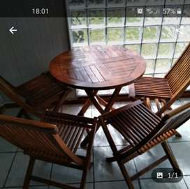 Stratford wood 4 piece table and chairs
