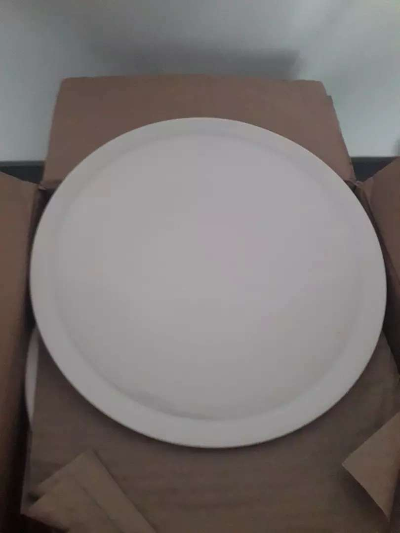 Pack of 12 pizza plate blanco