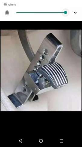 New stainless steel pedal lock