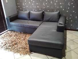L-Shape Couch with Cupholders