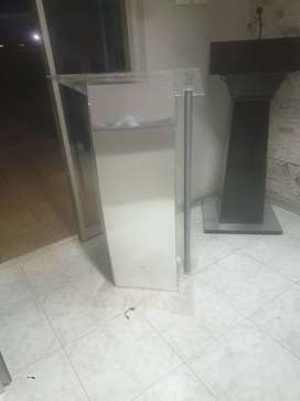 Steel Tubing Podium with Full Silver Front