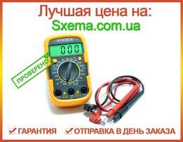 Мультиметр цифровой DT-830LN с подсветкой экрана и в защитном чехле