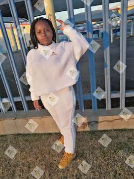 The White TEDDY BEAR TRACKSUIT by Emmah fashion and Co PTY Ltd.