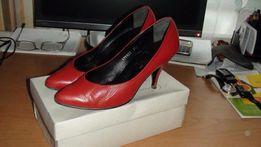 Туфли женские кожанные красные