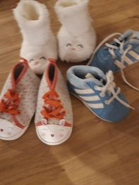 Niechodki dla dziewczynki Adidas i cool club 3 sztuki r.20