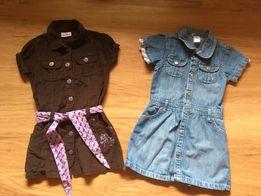 Sukienka jeansowa i sztruksowa 3 szt. rozm.116cm
