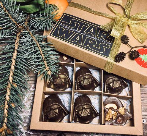 крафтовые конфеты ручной работы звёздные войны star wars darth vader