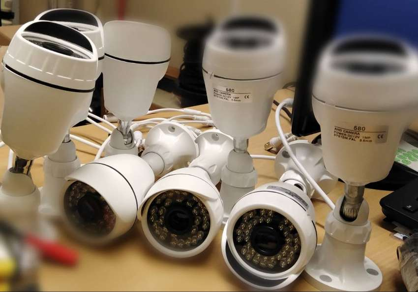 CCTV CAMERAS PLUS POWER SUPPLIES AND CABLES 0