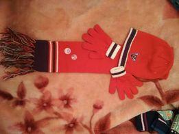 Шапка, шарф и перчатки комплект