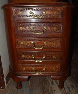 Rare Indian Rosewood and Inlaid chest of drawers
