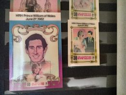 Znaczki 3D rodziny królewskiej 1982 Filatelistyka, Mega rzadkie Okazja