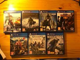 7 great condition PS4 games