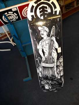 LIMITED EDITION element x Split paint Skateboard deck