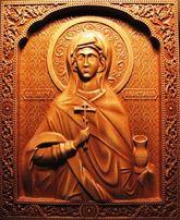 Резная деревянная икона именная. На подарок.