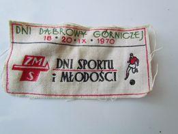 Naszywka ZMS Dni Sportu i Młodości Dąbrowa Górnicza 1970