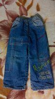Джинсові штани(брюки) утеплнні флісом на 1-3 р.