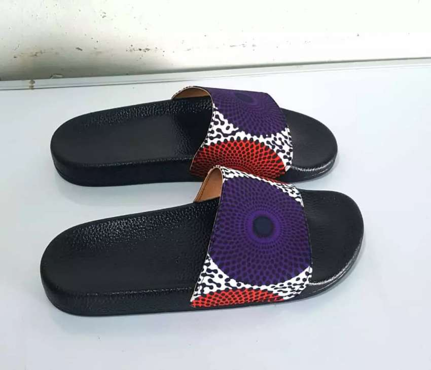 African print slippers 0