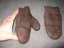 Шкіряні зимові рукавиці на натуральній овчині, 3-5 років, 80 грн.