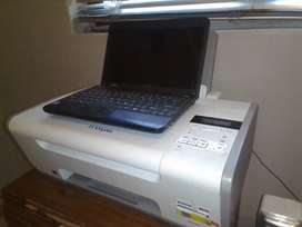 Small laptop and printer