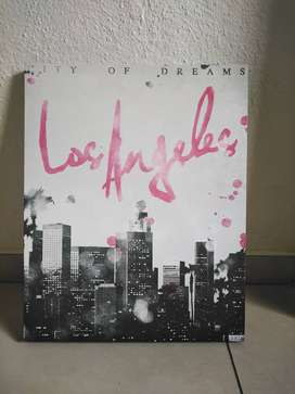 Los Angeles skyline canvas print from Typo