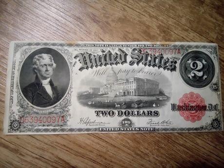Купюра 2$ 1917 подписи Спелман Вайт