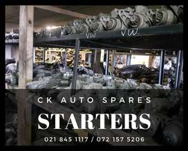 Starters for sale for most vehicles make and models.