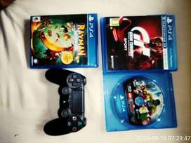 PlayStation 4 controller with additional 3 games