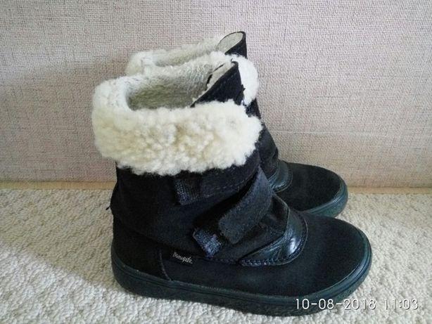 Польские зимние замшевие ботинки Mrugyla, 26 размер Киев - изображение 4