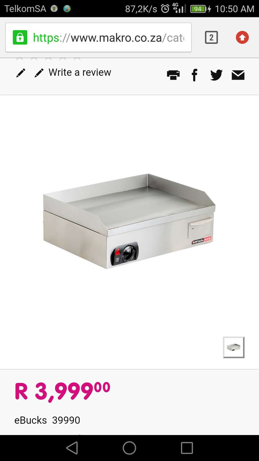 BARGAIN ANVIL GRILLER AND TWO PLATE STOVE 0
