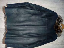 Продам зимнюю мужскую куртку кожаная