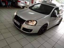 Silver VW Golf-5 GTI DSG automatic 2.0