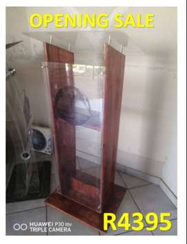 H-Shaped Wooden Pulpit with Semi Front Acrylic Any Occasion