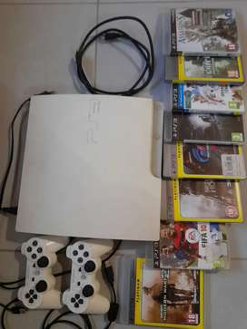 PS 3 with games and 2 remotes