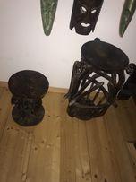 Meble indonezyjskie- stolik i taboret- drewno egzotyczne