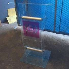 CLEAR PERSPEX & GOLD TUBING PULPITS LOW COST