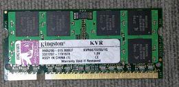 Pamięć RAM Kingston KVR667D2S5/1G DDR2 Do Laptopa 1GB