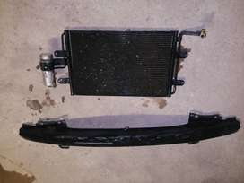 Aircon radiator and stiffener