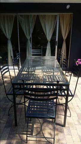 Wrought Iron Dining Table & Chairs