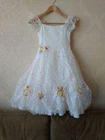Платье нарядное для девочки на рост 122-134