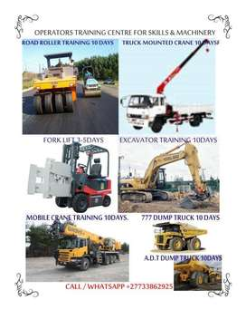 Grader,Excavator,TLB,Front end loader Training School