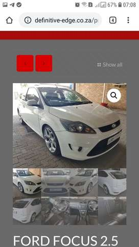 Ford Focus 2.5 ST 3 DR, White