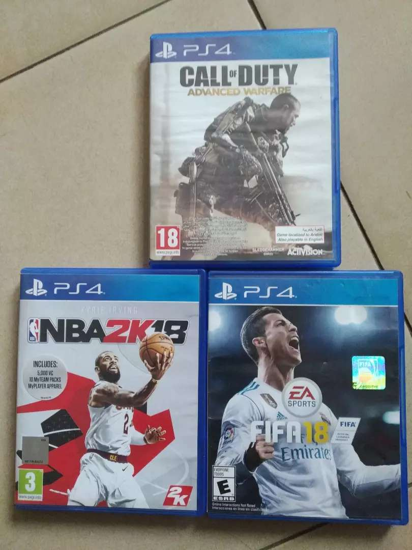 FIFA18, NBA2K18 and Call of Duty 0